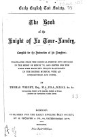 Pdf The book of the knight of La Tour-Landry