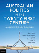 Australian Politics in the Twenty First Century
