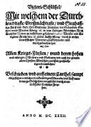 Victori-Schlüssel, Mit welchem ... Gustavus Adolphus, der Schweden ... König etc. in dem Heiligen Römischen Reich Teutscher Nation ... ein- und durchgebrochen hat ...