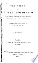The Works of Oliver Goldsmith  The Citizen of the world  Polite learning in Europe Book PDF