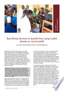 East African Farmers To Benefit From Using Mobile Phones To Record Yields