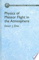Physics Of Meteor Flight In The Atmosphere Book PDF