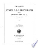 Catalogue Of Official A E F Photographs