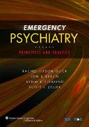 Emergency Psychiatry