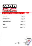 Music, Opera, Dance, and Drama in Asia, the Pacific, and North America