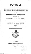 Journal of the House of Representatives of the Commonwealth ...