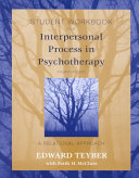 Student Workbook for Interpersonal Process in Psychotherapy