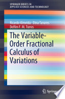 The Variable-Order Fractional Calculus of Variations