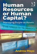 Human Resources or Human Capital?