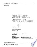 Management of Transmission Line Rights of way for Fish and Wildlife  Eastern United States