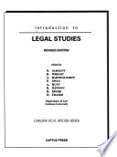 Introduction to legal studies