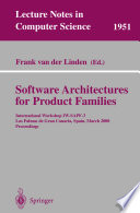 Software Architectures for Product Families