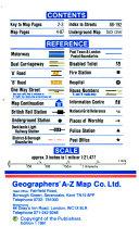 Mini London AZ Street Atlas   Index