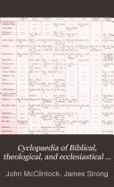 Pdf Cyclopaedia of Biblical, Theological, and Ecclesiastical Literature