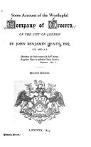 Some Account of the Worshipful Company of Grocers of the City of London