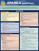 Quick Study Academic APA/MLA Guidelines for Students