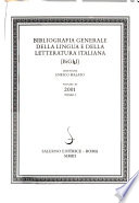 Bibliografia generale della lingua e della letteratura italiana  : BiGLI. , Band 11,Ausgabe 1