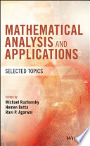 Mathematical Analysis and Applications Book