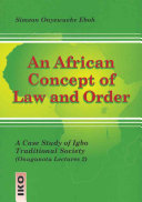 An African Concept of Law and Order
