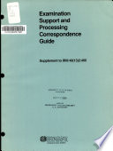 Examination Support and Processing Correspondence Guide