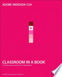 Adobe Indesign Cs4 Classroom In A Book