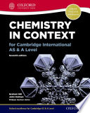 Chemistry in Context for Cambridge International AS   A Level Book