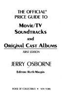 The Official Price Guide to Movie/TV Soundtracks and Original Cast Albums