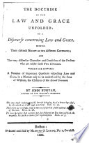 The Doctrine of the Law and Grace Unfolded