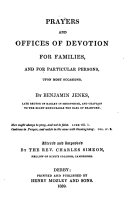 Prayers and offices of devotion for families, altered by C. Simeon