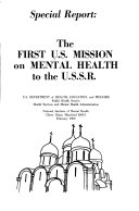 The First U S  Mission on Mental Health to the U S S R