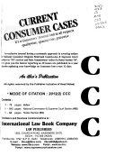 Current Consumer Cases Book PDF