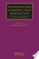 Transnational Construction Arbitration Book