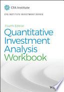 Quantitative Investment Analysis, Workbook