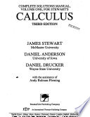 Complete Solutions Manual for Stewart's Calculus, Third Edition