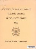 Statistics of Pubicly Owned Electric Utilities in the United States  1969