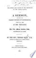 The Office and Duties of the Messenger of the Lord of Hosts  a Sermon  Etc