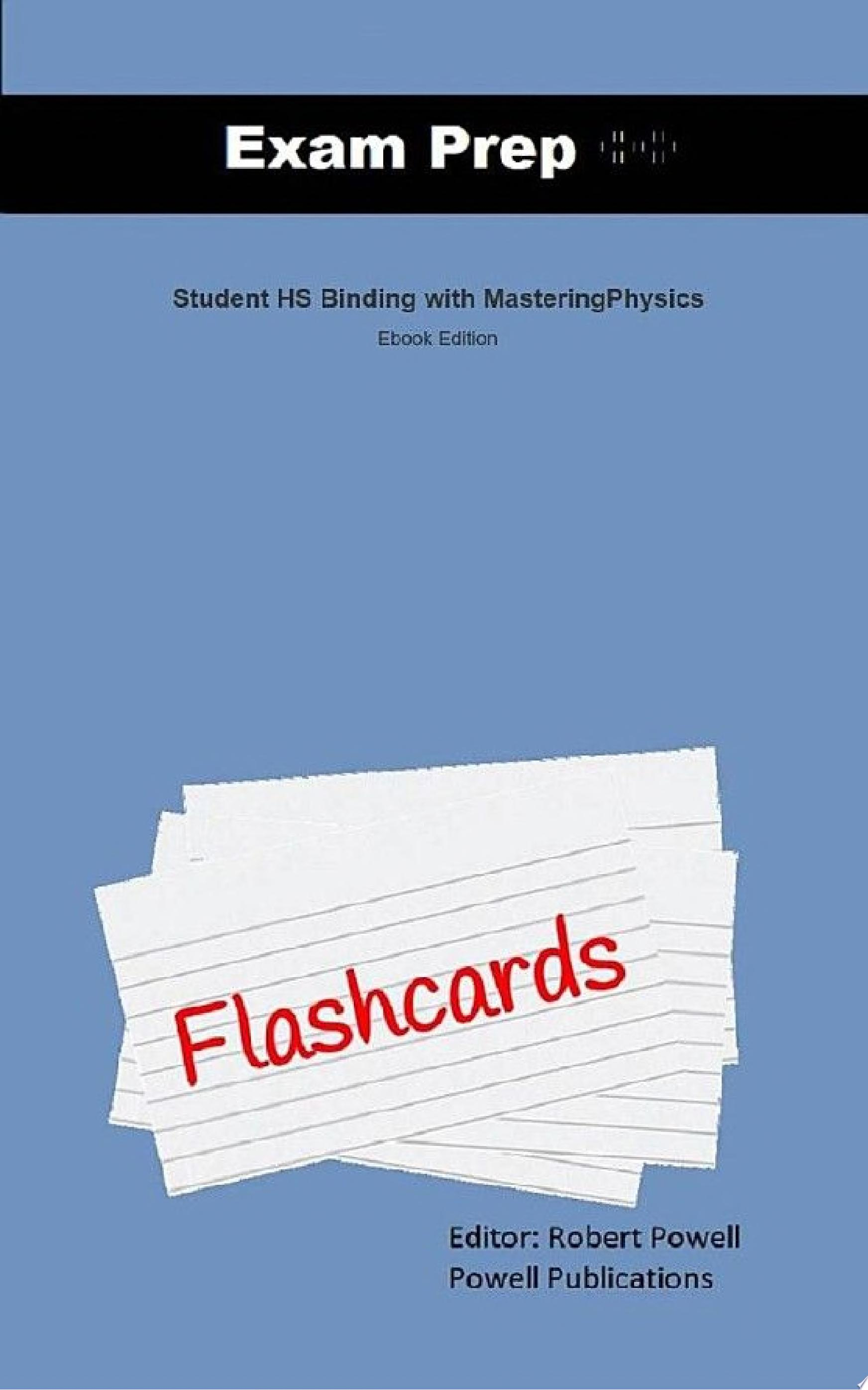 Exam Prep Flash Cards for Student HS Binding