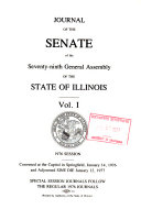 Journal of the Senate of the General Assembly
