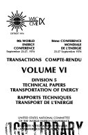 Transactions  Division 5  technical papers  transportation of energy