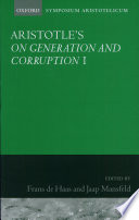 Aristotle S On Generation And Corruption I Book 1