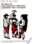 The Quest for Equal Employment Opportunity in Oklahoma State Government