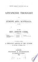 Advanced thought in Europe  Asia  Australia   c