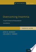 Overcoming Insomnia Book PDF