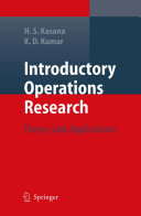 Introductory Operations Research