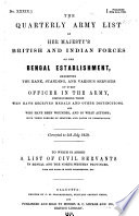 The Quarterly Army List Of Her Majesty S British And Indian Forces On The Bengal Establishment