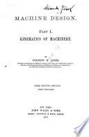 Machine Design      Kinematics of machinery