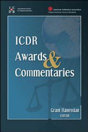 ICDR Awards and Commentaries