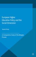 European Higher Education Policy and the Social Dimension Pdf/ePub eBook