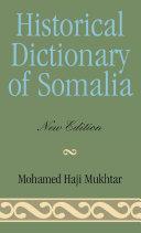 Historical Dictionary of Somalia ebook