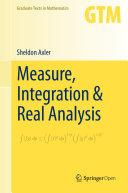 Pdf Measure, Integration & Real Analysis Telecharger